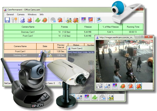 CamPermanent for all WebCams NetCams and video devices! reliable Screen Shot
