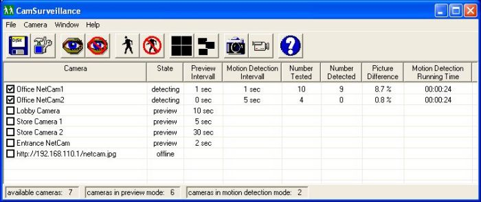 Click to view CamSurveillance 2.2 screenshot