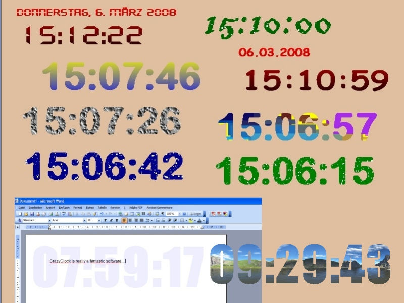 Click to view CrazyClock 1.4 screenshot