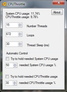 Click to view CPUThrottle 1.1 screenshot