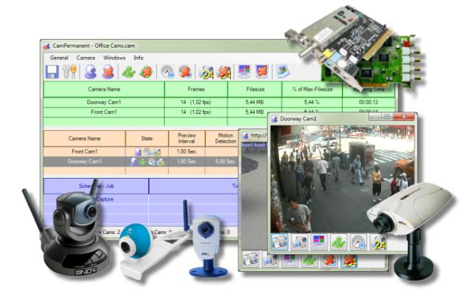CamPermanent - IP-Camera Webcam Security Surveillance Software